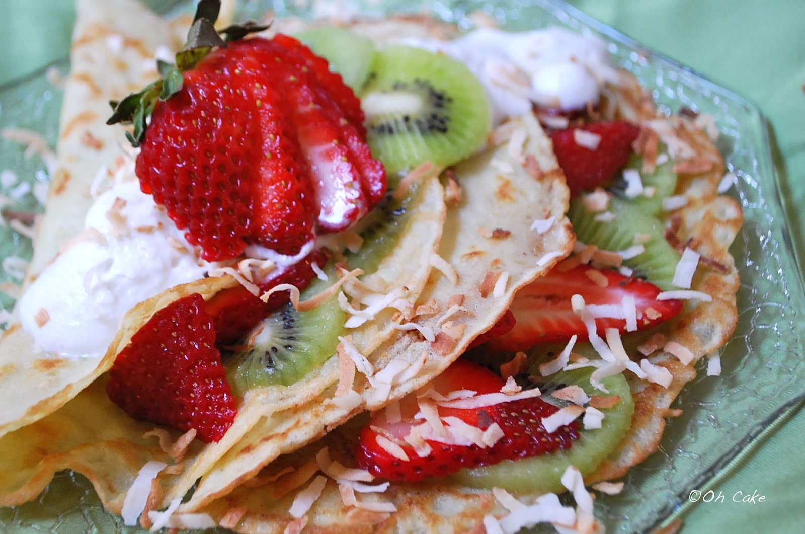 Oh Cake: Rêve de Crêpes ~ Coconut Crepes with Kiwi & Strawberries