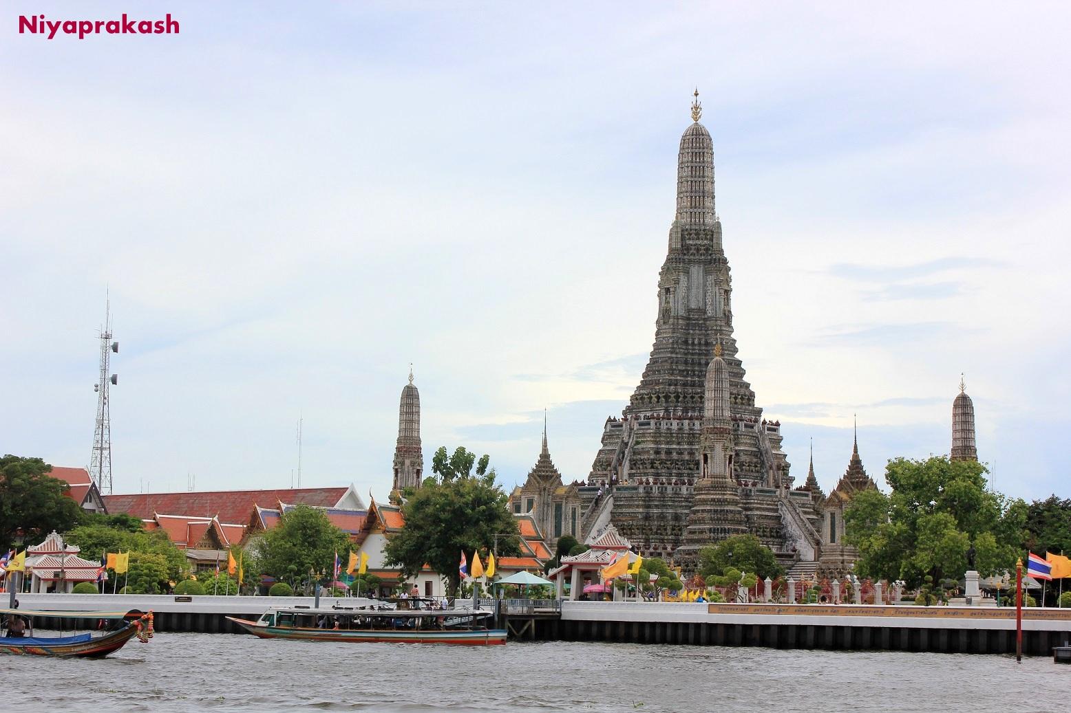 Niyas World: View from Wat Arun Temple, Bangkok, Thailand