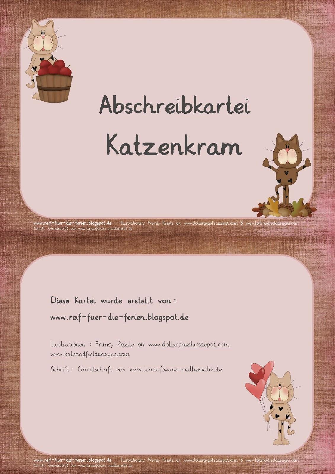 Abschreibkartei GS - Katzenkram