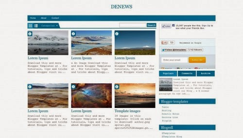 DeNews - Free Blogger Template
