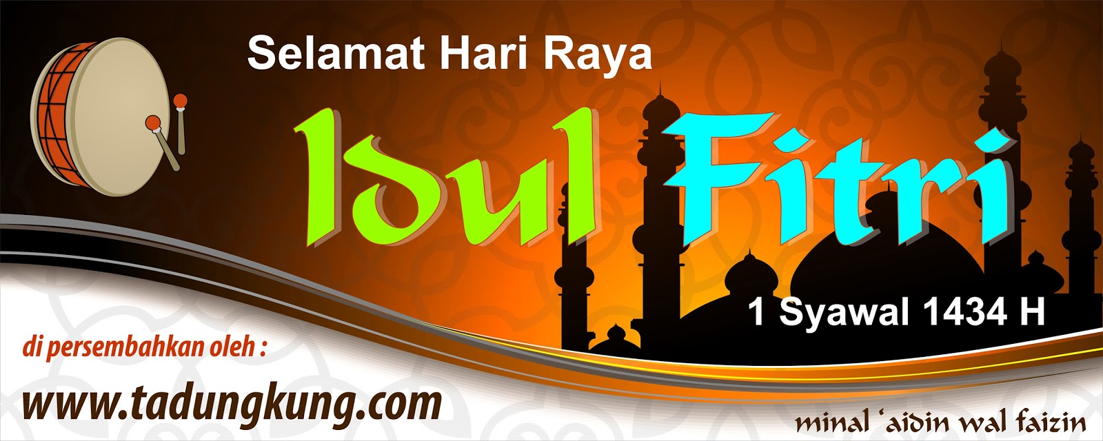 Template Spanduk Selamat Idul Fitri Vector