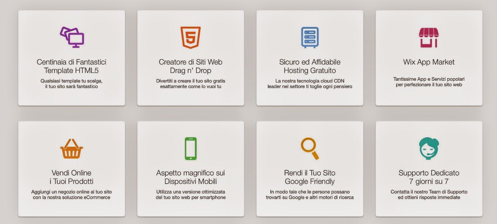 wix-caratteristiche