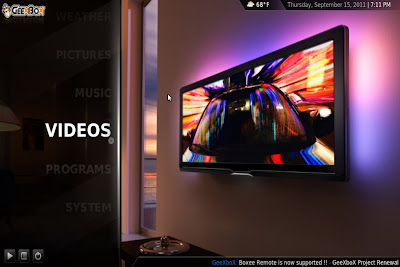 xbmc menu video1 GeeXboX 2.0 disponible
