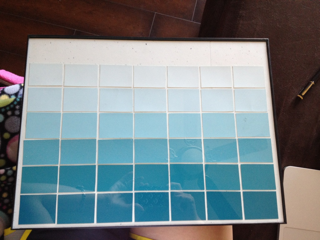 Diy Ombre Calendar : Classroom diy paint chip calendar