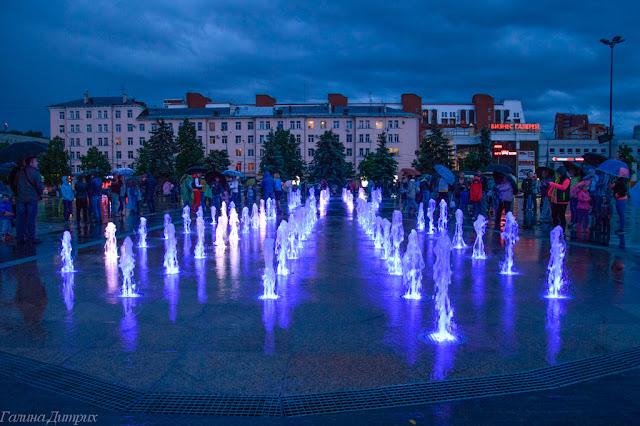 Эспланада фонтаны Пермь фото