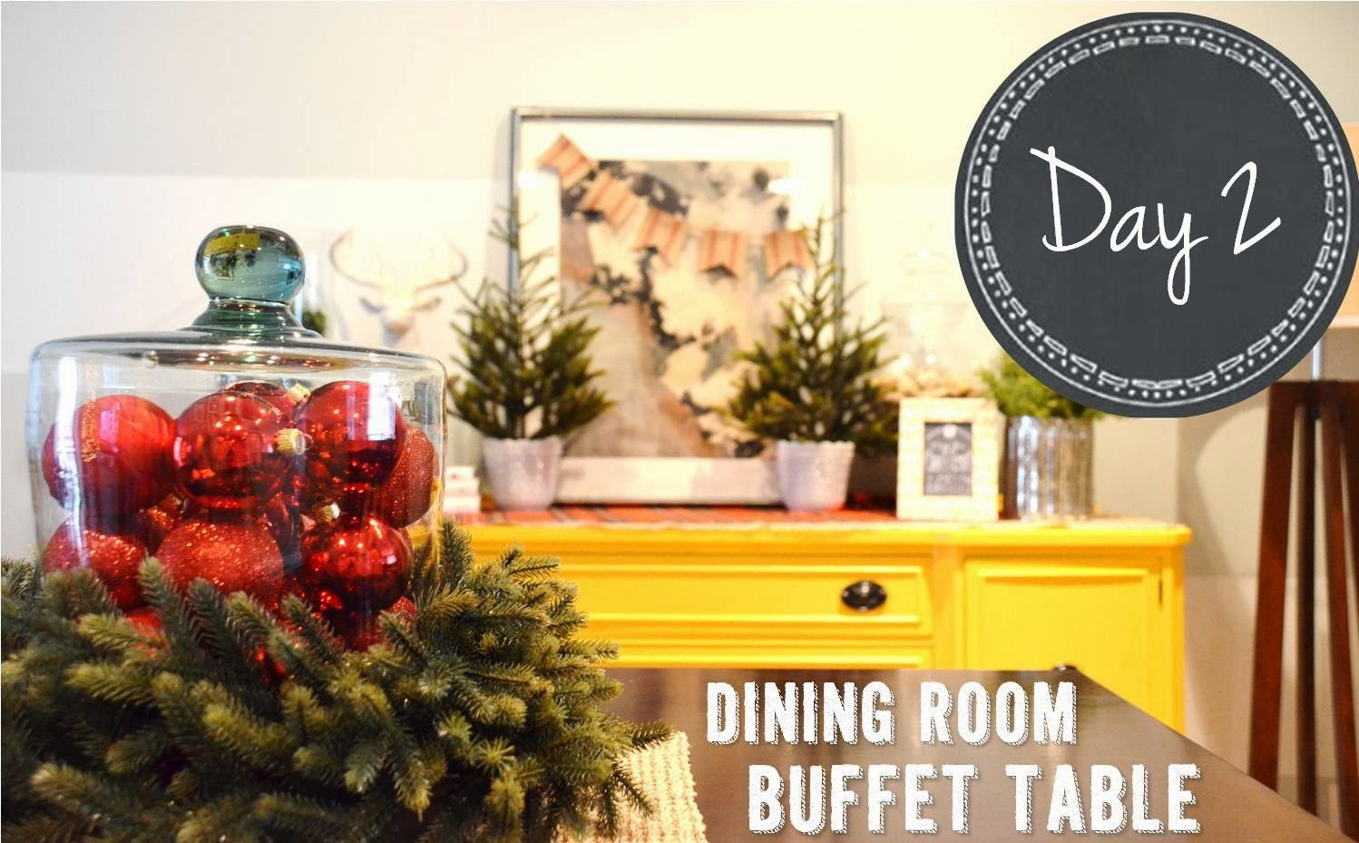 There Are Lots Of Way To Go About Decorating A Dining Room Buffet Table Some May Opt For Displaying Their Best Serving Pieces An Upcoming Family