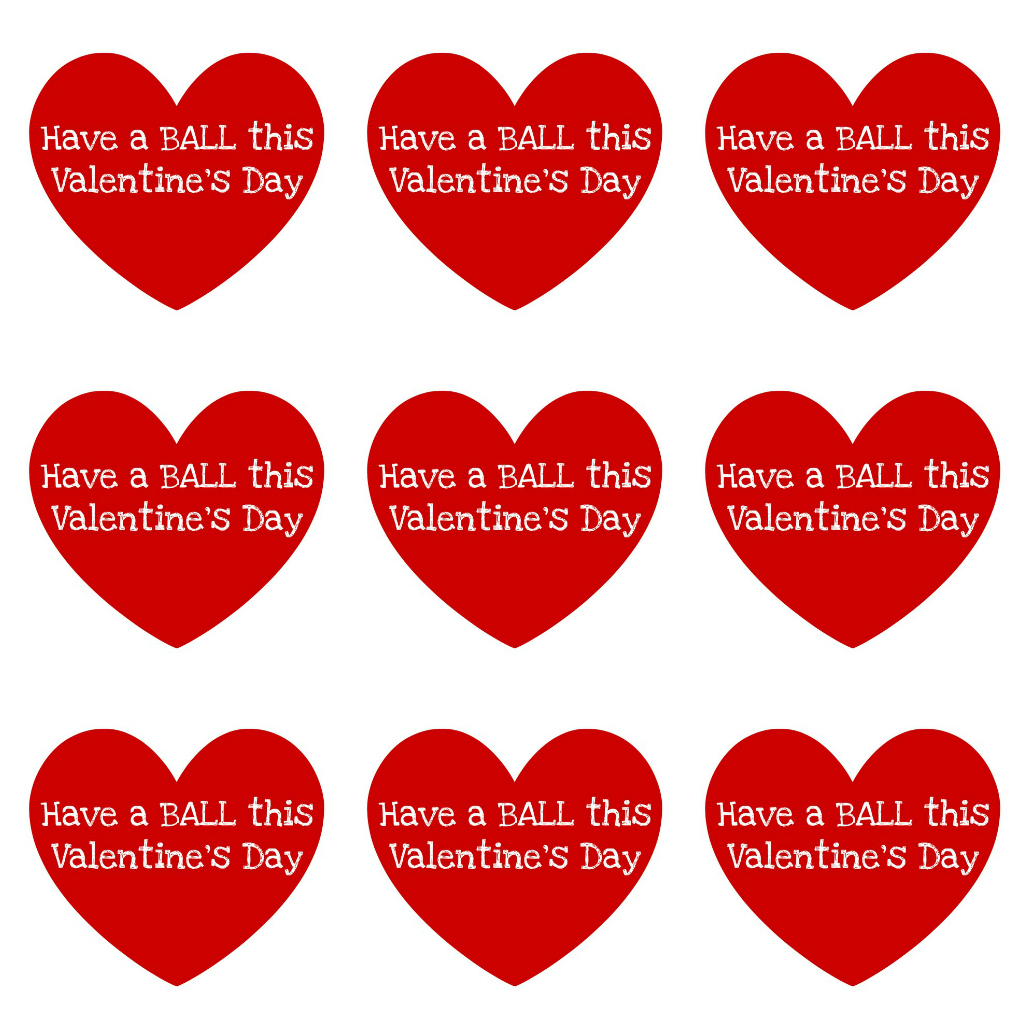 Influential image within printable valentine hearts