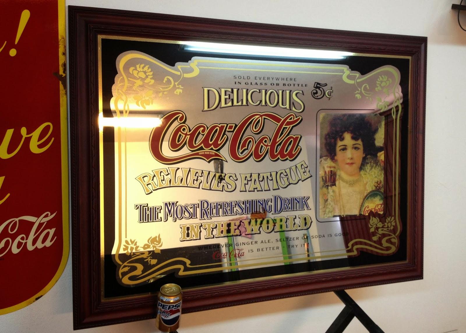 Decoracion bares coca cola espejo coca cola gran tama o for Cuanto vale un espejo grande