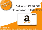 Get 5% off on Amazon E-Gift Cards and 5% Off on GiftBig.com Summer Special E-Gift Cards for Rs. 475.0 at Giftbig