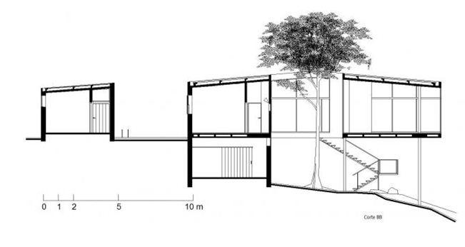 diego carrasco casa de vidrio planos y secciones
