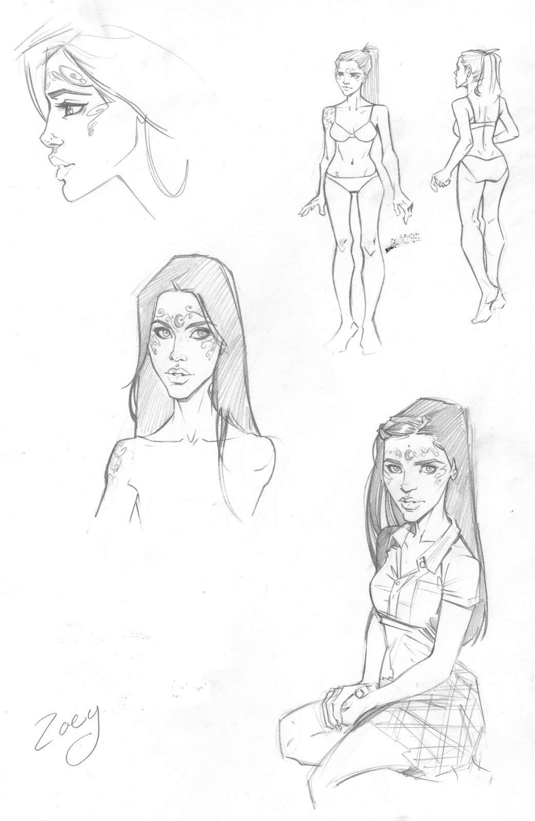 BD House of night Houseofnightsketches2