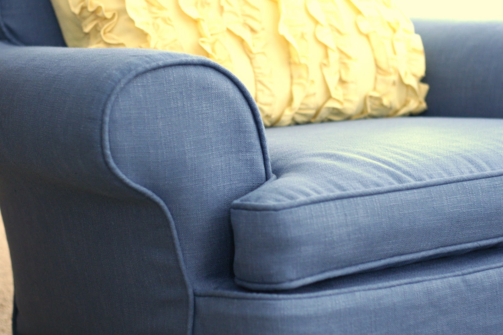 custom slipcovers by shelley  french country family room