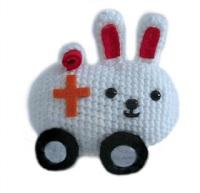 Amigurumi Bunny Sharon Ojala : 2000 Free Amigurumi Patterns: Crochet Bunny Ambulance Free ...
