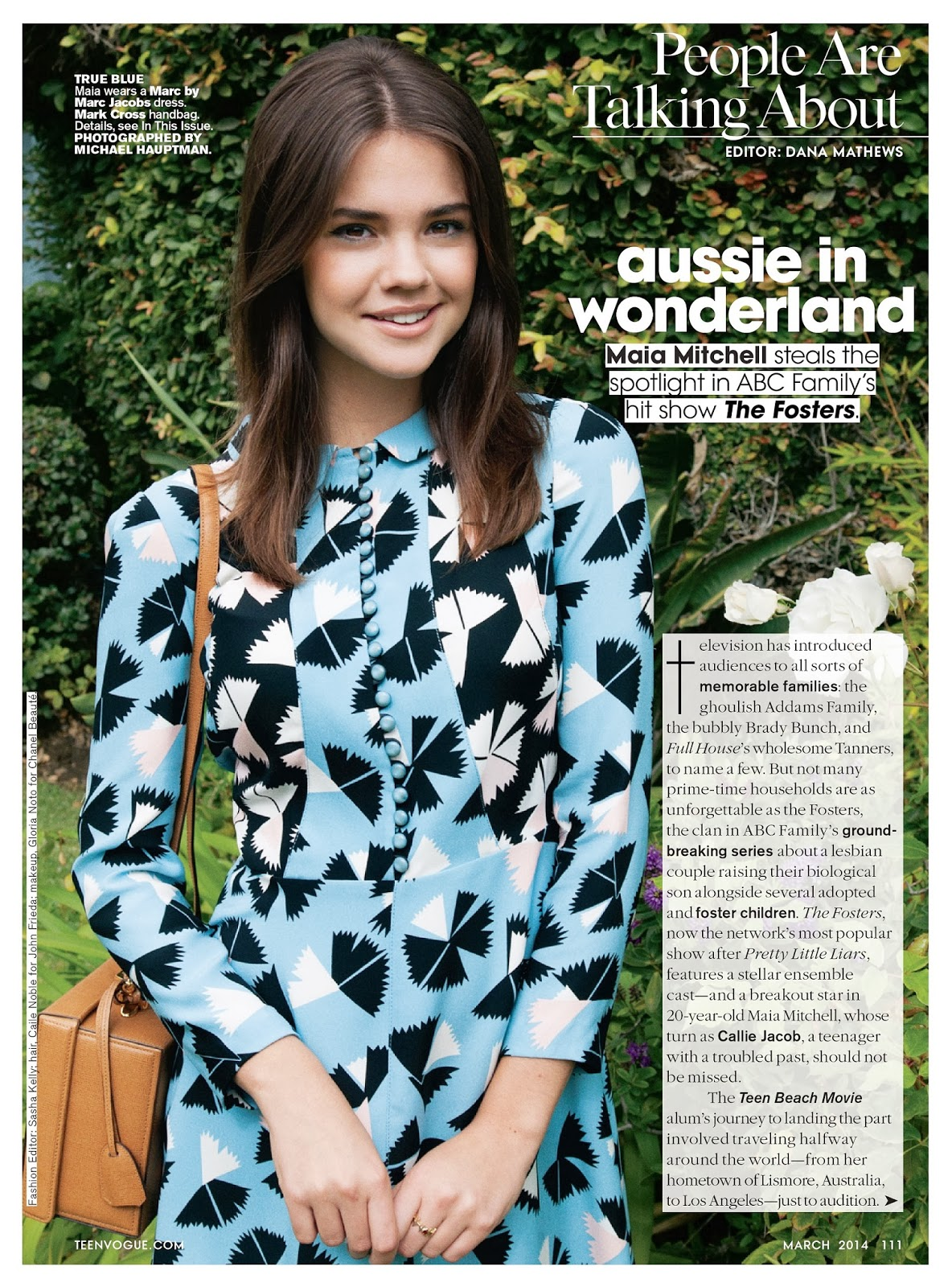 Maia Mitchell HQ Pictures Teen Vogue  Magazine Photoshoot March 2014