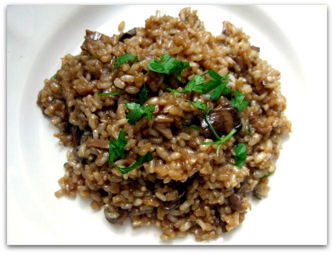 Albahaca con tomates risotto con boletus porcini y arroz - Risotto arroz integral ...