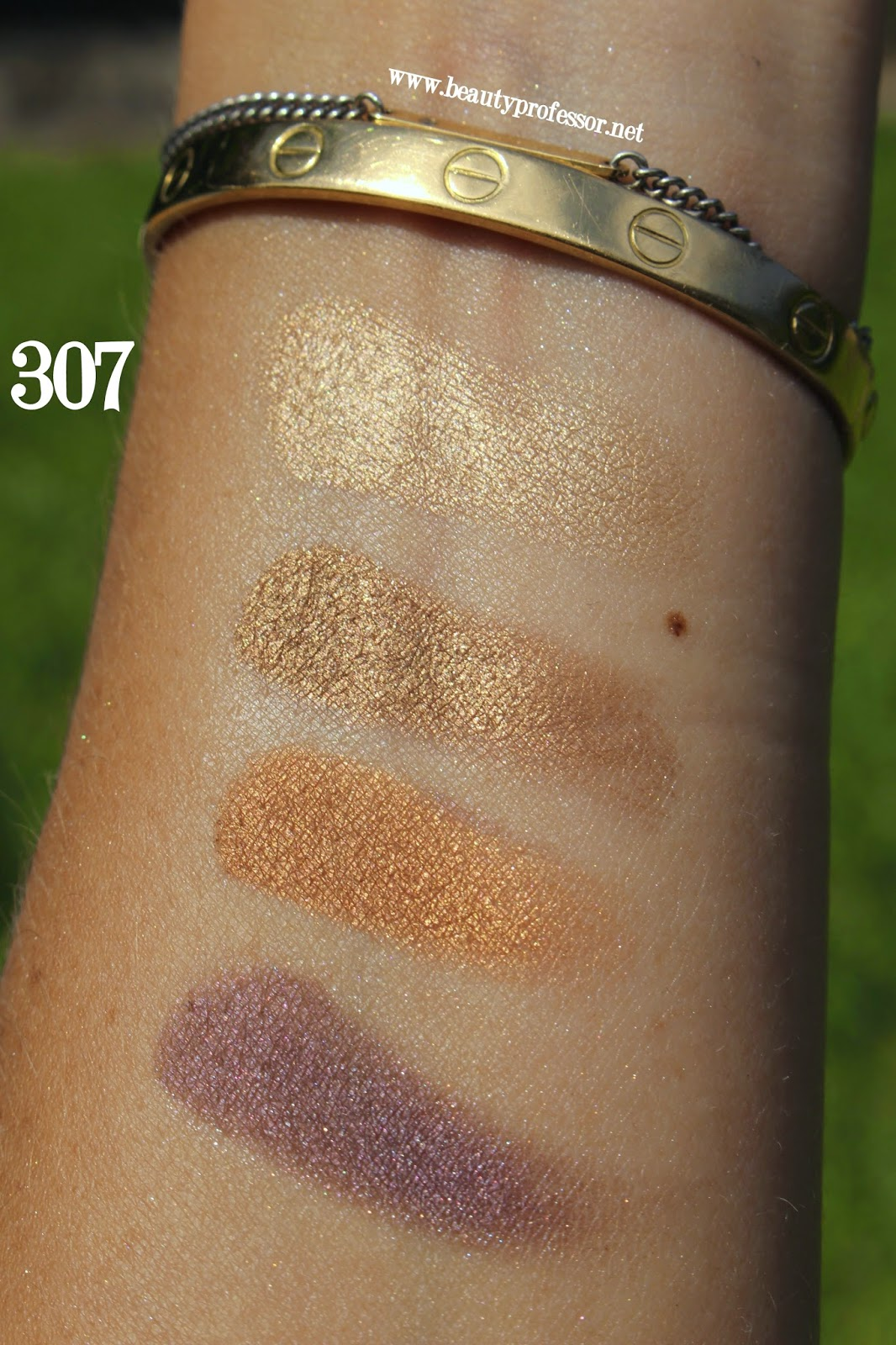 Cle de peau eye color quad 308 stellar gaze swatches
