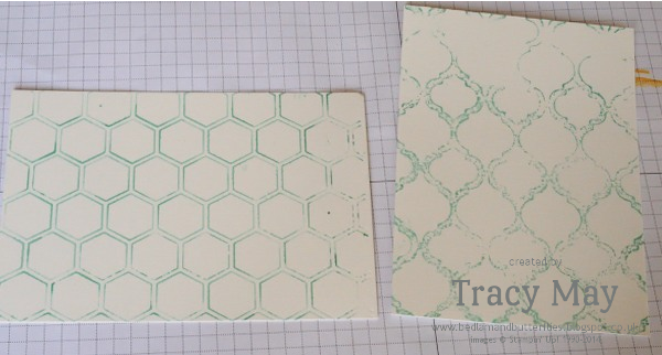 Stampin' Up embossing folder ink background technique Tracy May card making ideas