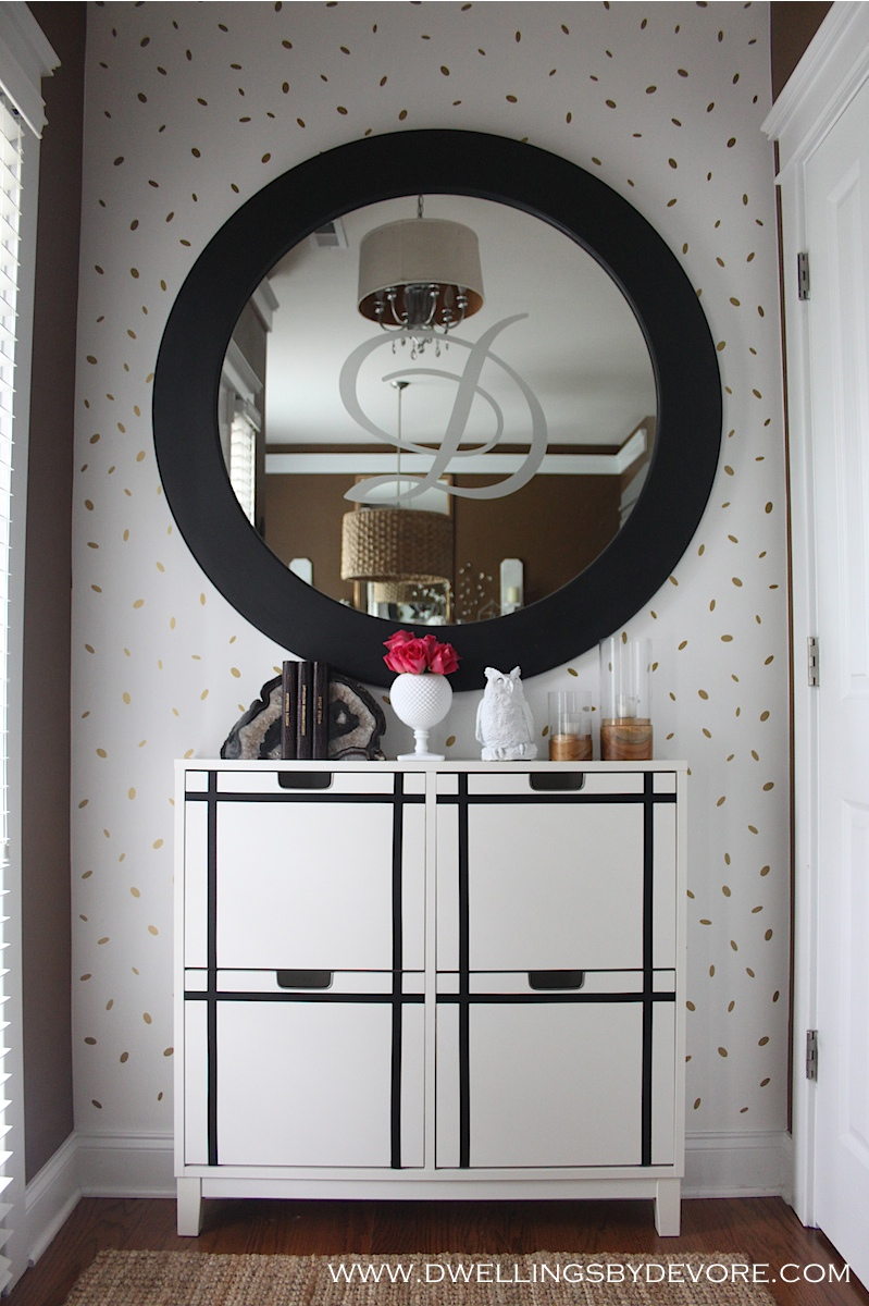 Ikea Foyer Cabinet : Dwellings by devore entryway makeover and an ikea hack