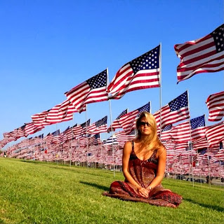 Bar Refaeli showed off her reflective mood around a much more American flag