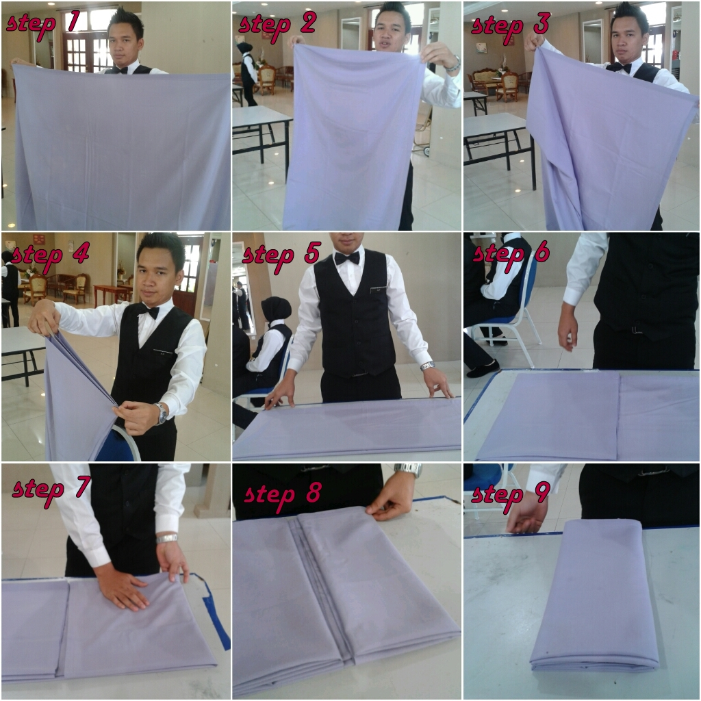 FOLDING TABLE CLOTH, LAYING TABLE CLOTH AND CHANGING TABLE CLOTH
