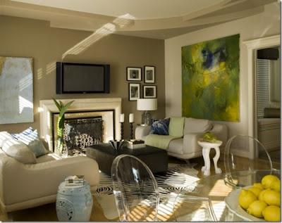 Decoraci n de interiores con color verde for Decoracion de interiores verde