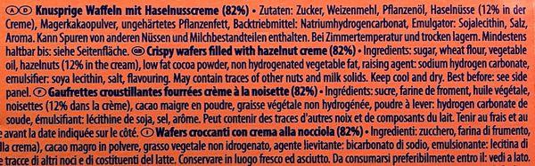 Manner Original Neapolitaner Wafers Ingredients suitable for vegans