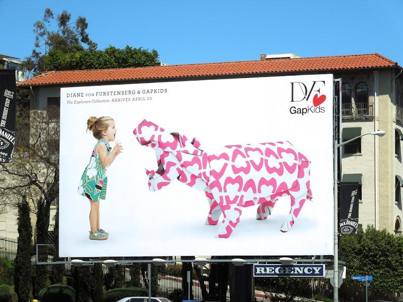 Diane Von Furstenburg Gap Kids Explorers billboard