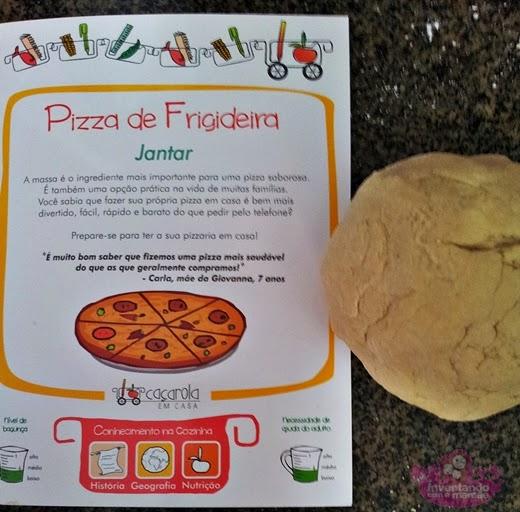 Pizza de frigideira feita em casa