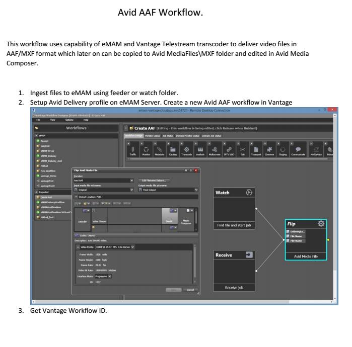 eMAM-Vantage Avid AAF Workflow How To