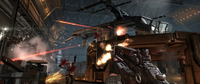 Fire fight in Wolfenstein: The New Order