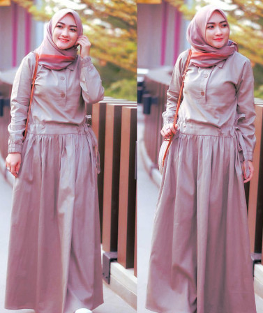 Dress Remaja Muslimah Model Gaun