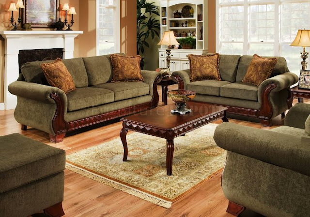 Traditional Dark Wood Sofa Leather Furniture Sets Elegant Design Ideas For Living Room Soft Carpet Hardwood Laminate Flooring And Vintage Wall Painting Color With Antique And Unique Lighting on Antique Nursery Furniture
