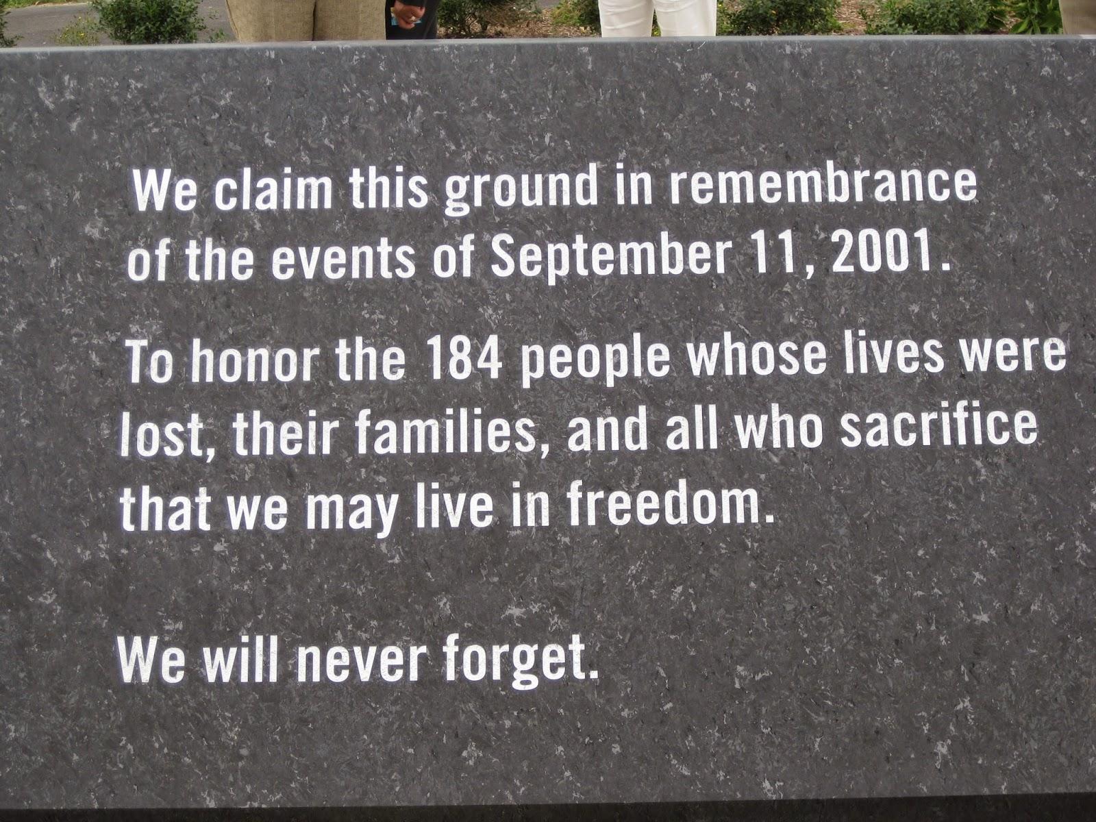 9-11 pentagon memorial stone image