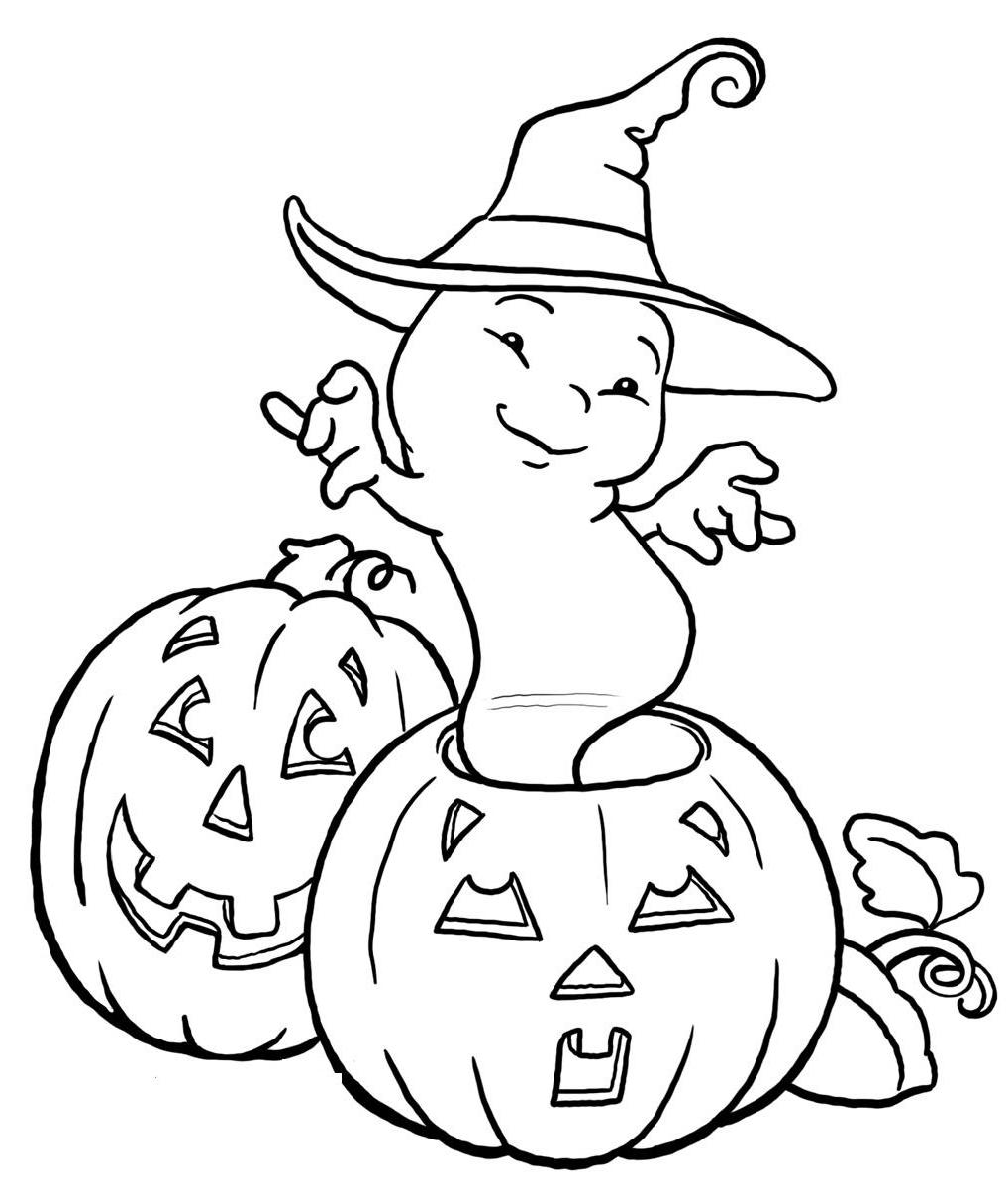 Coloring pages ghosts coloring pages and clip art free for Toddler halloween coloring pages
