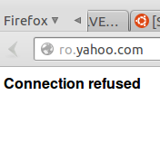 Yahoo Connection Refused