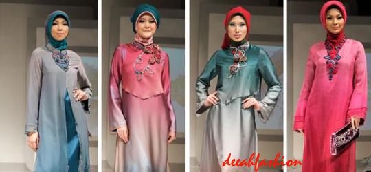 Inspirasi Baju Muslim Idul Fitri 2014 Gradasi Chic