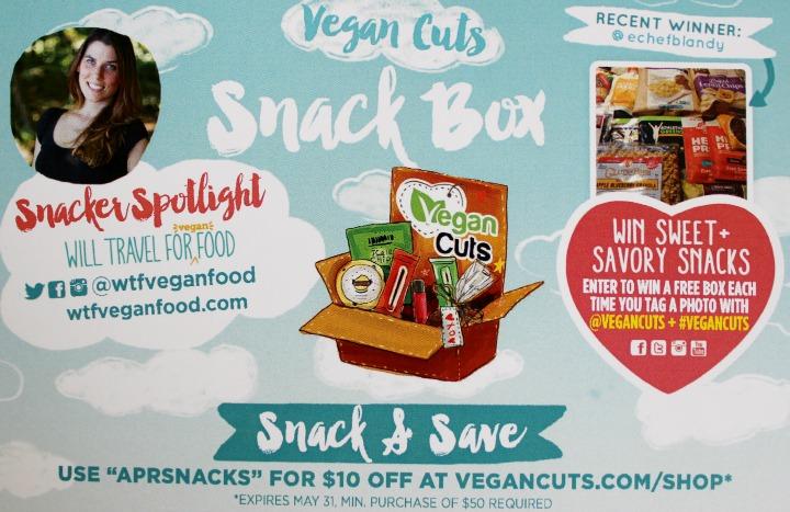 Vegan Cuts Snack Box April 2015  info card