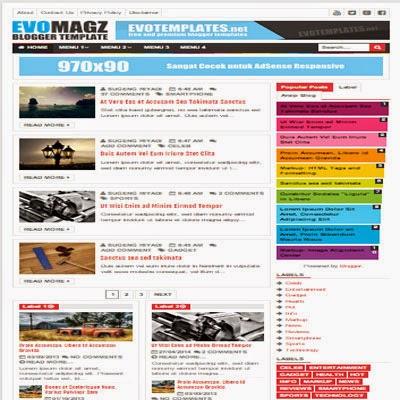 Template Evo Magz Premium