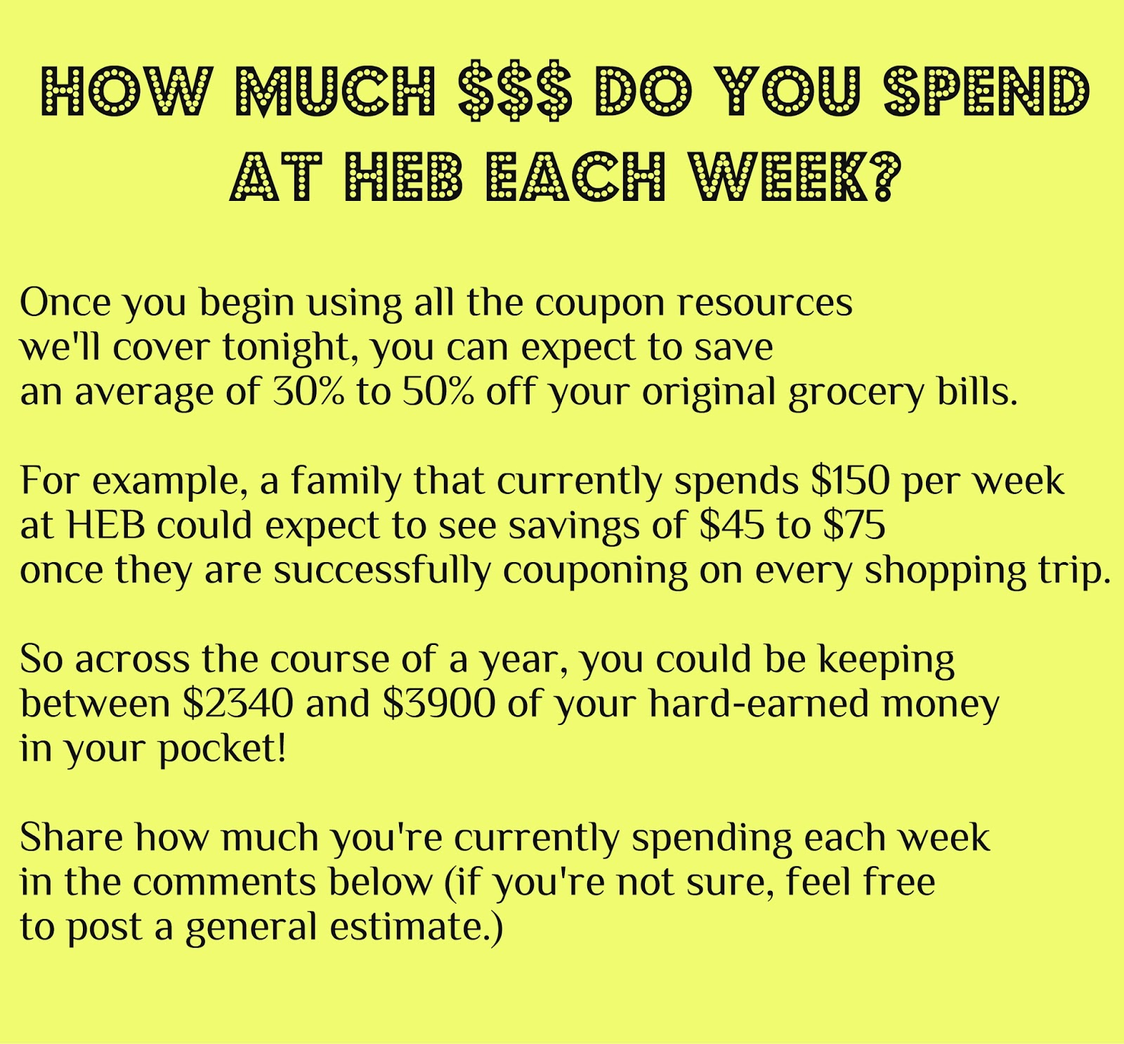 HEB Couponing 101 Free Self Paced Coupon Class
