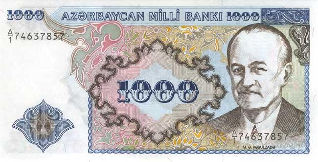 Российский рубль (RUB) и Азербайджанский манат (AZN