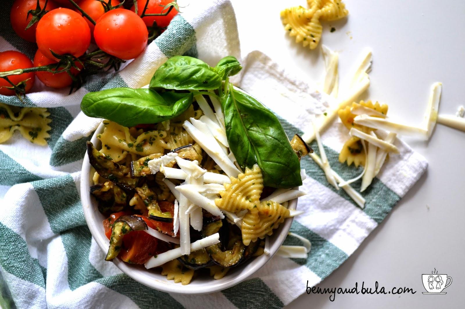 insalata di farfalle alla norma/pasta fredda ricotta salata melanzane / pasta salad