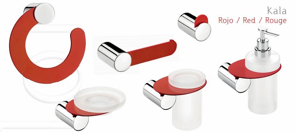 accesorios ba o en rojo