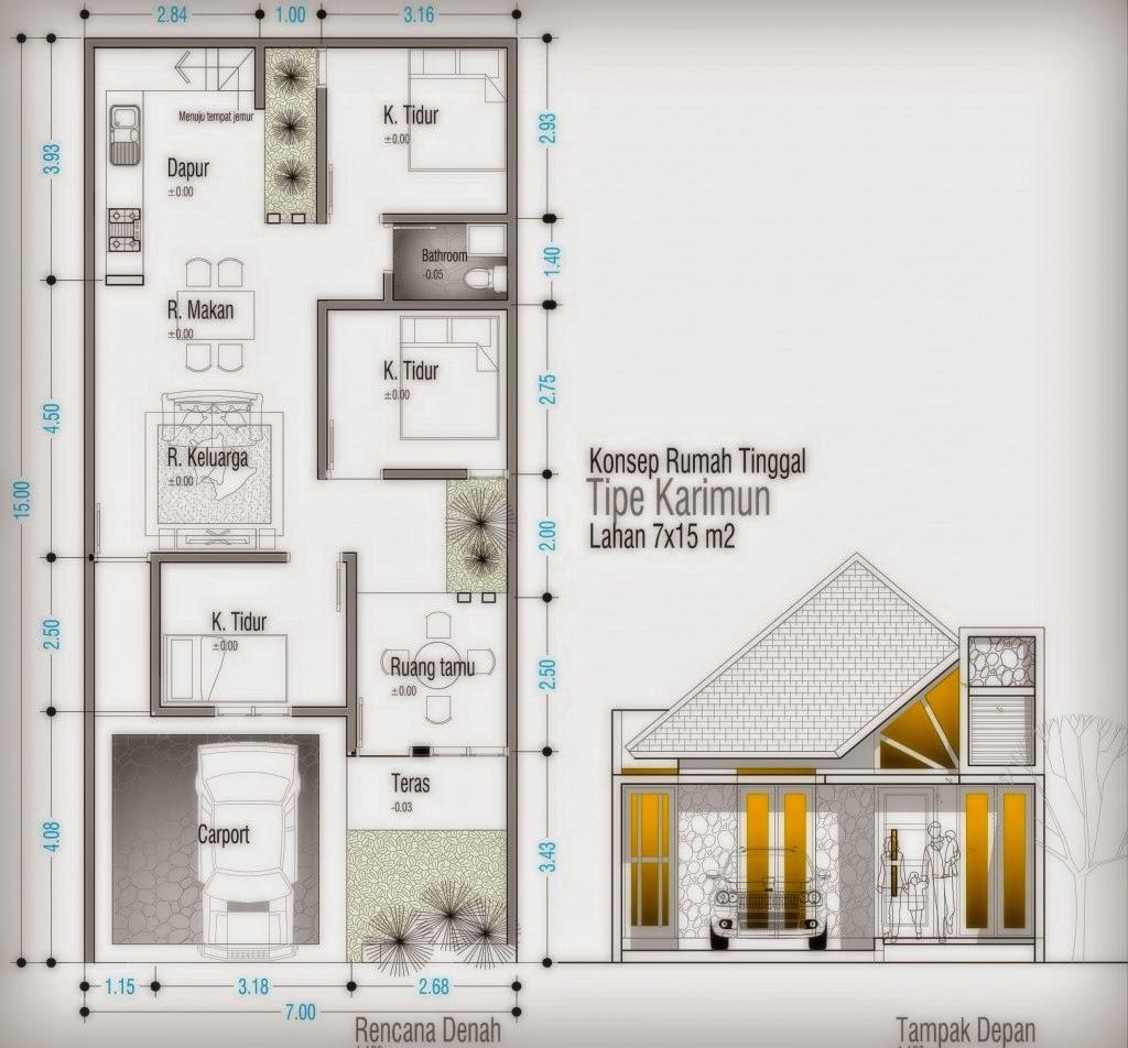 Contoh Desain Denah Rumah Minimalis Type 60 Terbaru Design Rumah