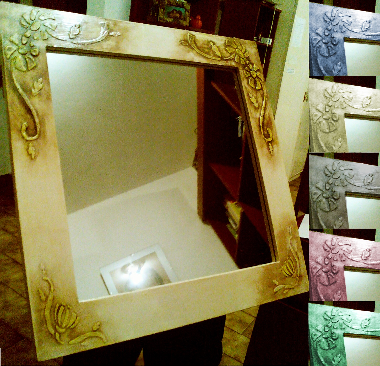Espejos artesanales dise os originales en varios colores for Espejos artesanales
