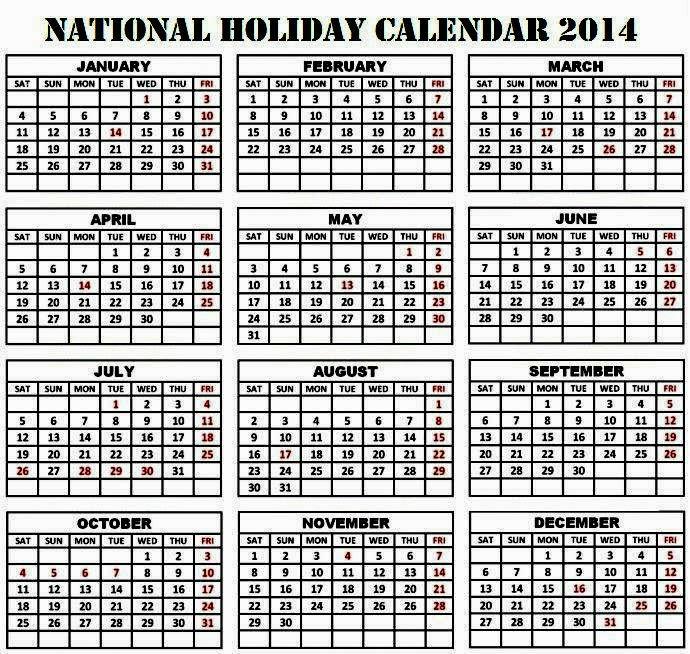 Bangladesh Public/National Holiday Calendar 2014 | Blog Beginner Guide ...