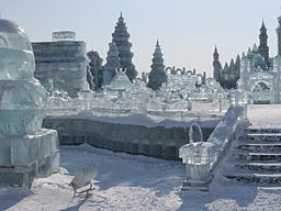 Ice sculptures at the Harbin Ice and Snow Festival
