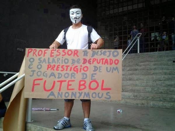 manifestação  professor salário
