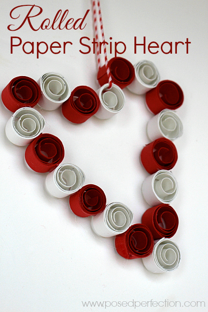 Want a fun craft to use up those paper scraps? This sweet Rolled Paper Strip Heart couldn't be easier or cheaper to make!