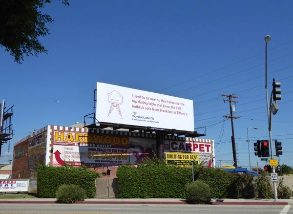 Breakfast at Tiffanys Move Loot billboard