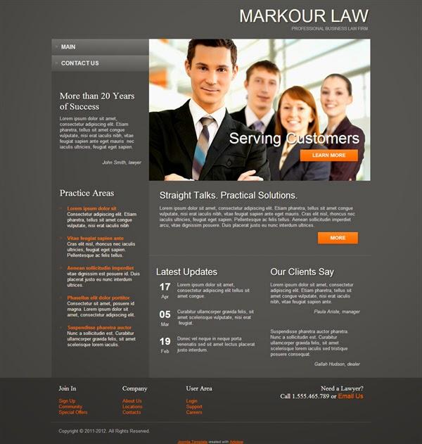 Markour Law - Free Joomla! Template